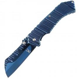 """Cuchilla y mango con cuchilla azul con resorte de 7 """"y mango con clip para cinturón"""