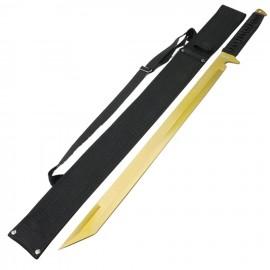 """Espada Ninja Dorada de 26 """"de Acero Inoxidable con Vaina"""