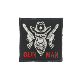 PARCHE GUN MAN NEGRO