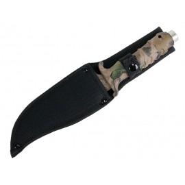 """Cuchillo de caza de camuflaje de hoja fija de 10,5 """"de acero inoxidable"""